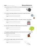 Independent / Dependent Variables Worksheet