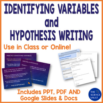Independent, Dependent Variables and Hypothesis Powerpoint w/Wksht