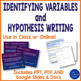 Scientific Method Independent and Dependent Variables and Hypothesis Writing