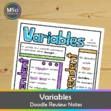 Independent Dependent Variables in Science Lab Experiments Doodle Sheet