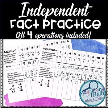 Independent Fact Fluency Practice