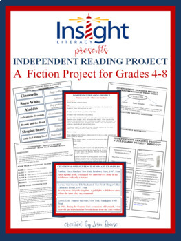 Independent Fiction Reading Project for Grades 4-8