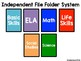 Independent File Folder System: For Autism and Special Education Classrooms