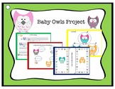 Independent Fine Motor Writing Work packet Owls