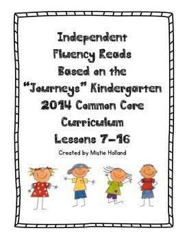Independent Fluency Reads, Journeys Kindergarten