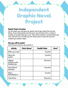 Independent Graphic Novel Project