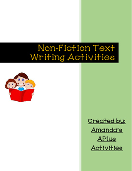 Independent, Interactive or Guided Reading Writing Activities *NF TEXT ONLY