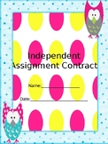 Independent Learning Contract and Plan