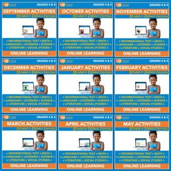 Independent Learning Module (ILM) Bundle - 72 Seasonal Internet Activities