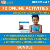 Independent Learning Module Bundle - 72 Seasonal Blended Learning Activities