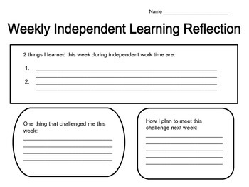 Independent Learning Reflection