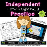 Independent Letter and Sight Word Practice- Kindergarten