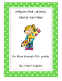 Independent Literacy Center Activities Gr.3-5