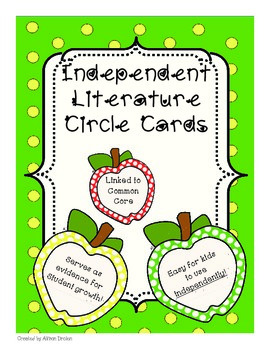 Independent Literature Circle Cards