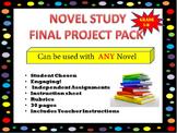Novel Study- Final Project Pack
