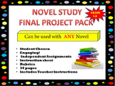 Novel Study- Final Project Pack