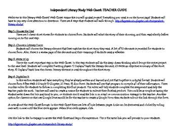 Independent Literature Study Web Quest