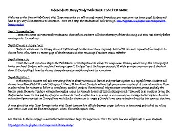 Independent Literature Study Web Quest