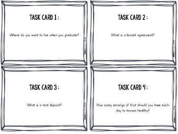 Independent Living (Essential Life Skill Task Cards)