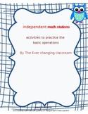 Independent Math Activities