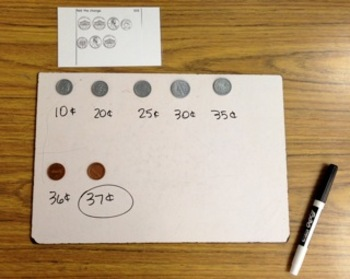 Independent Money Counting Cards for Primary Students, COMMON CORE