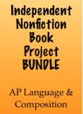 Independent Nonfiction Book Project BUNDLE - AP Lang