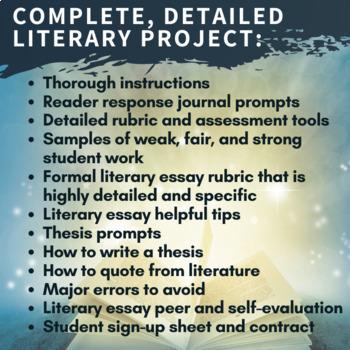 Independent Novel Study - Reader Response Journals and Essay