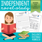 Independent Novel Study (for ANY book or novel and a varie