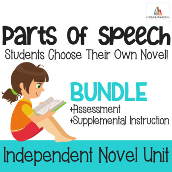 Parts of Speech BUNDLE-Independent Novel Study Unit w/ Test & Review