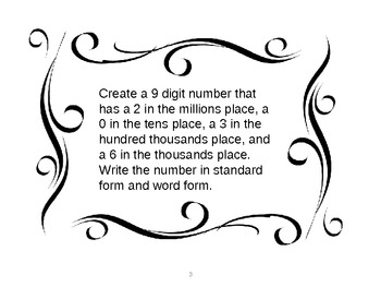 Independent Place Value Task Cards*************