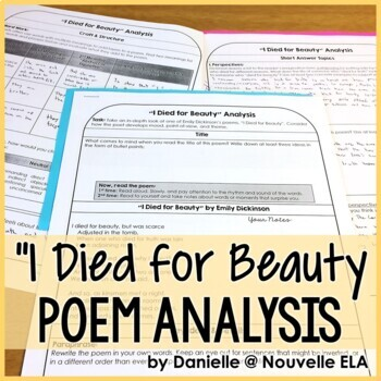 """""""I Died for Beauty"""" Poem Analysis"""