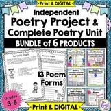 Poetry Project & 6 wk Poetry Unit - Creative Poetry Activities BUNDLE