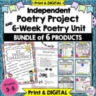 6 Week Poetry Unit Plus Poetry Project and 5 Other Poetry Products BUNDLED SET