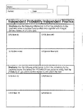Independent Probability Practice