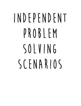 Independent Problem Solving Work - Social Skills/Pragmatics - ASD