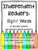Independent Readers - Sight Words (Group One of Nine)