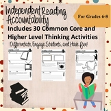 Independent Reading Accountability Activites for Middle School