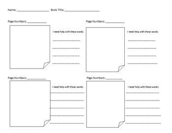 Independent Reading Accountability Form