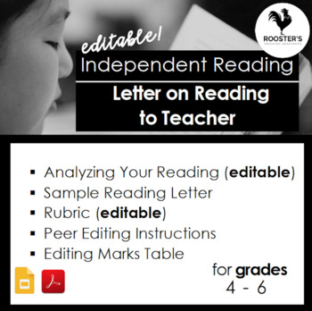 Independent Reading Accountability - Letter to the Teacher