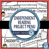 Independent Reading Activities: Menu of 16 Reading Projects