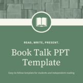 Independent Reading Activity: Book Talk Template