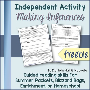 Independent Reading Activity - Making Inferences Freebie