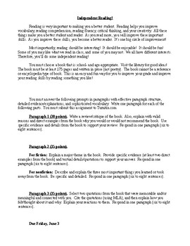 Independent Reading Assignment/Journal