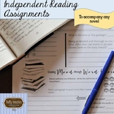 Independent Reading Assignments