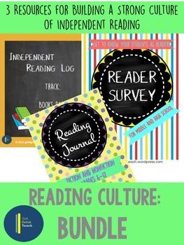 Independent Reading (Reading Log, Reading Journal, Reader Survey)