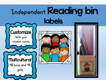 Independent Reading Bin Labels (Editable)