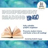 Independent Reading Bingo Card | Reading Log Alternative | Fully Editable