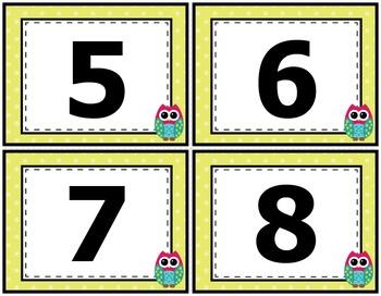 Independent Reading Book Bin Number Labels