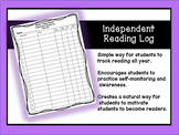 Independent Reading Book Log