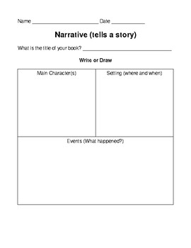 Independent Reading Book Report Form - Narrative and Informative